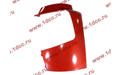 Бампер A7 красный боковая часть левая
